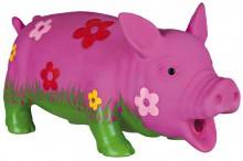 Schwein mit Blumen mit Grunzton