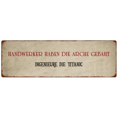 Metallschild/ Türschild: HANDWERKER HABEN DIE ARCHE GEBAUT