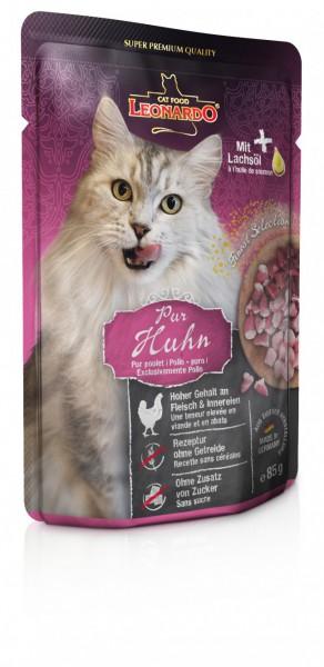 LEONARDO® Huhn - pur mit Lachsöl, 85g