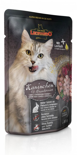 LEONARDO® Kaninchen + Cranberries, 85 g