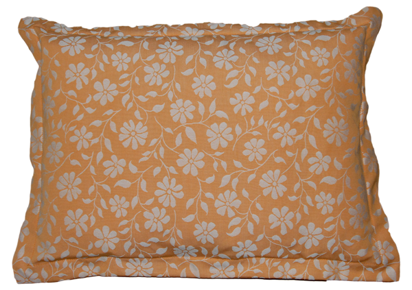 together Kuscheldecke, orange mit Blumenmuster