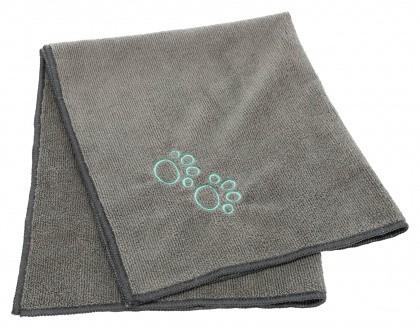 Handtuch mit Pfötchen, grau