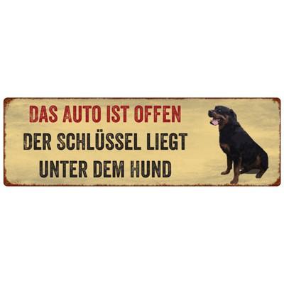 Metallschild/ Türschild: DAS AUTO IST OFFEN