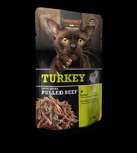 LEONARDO® Turkey with extra PULLED BEEF, 70 g