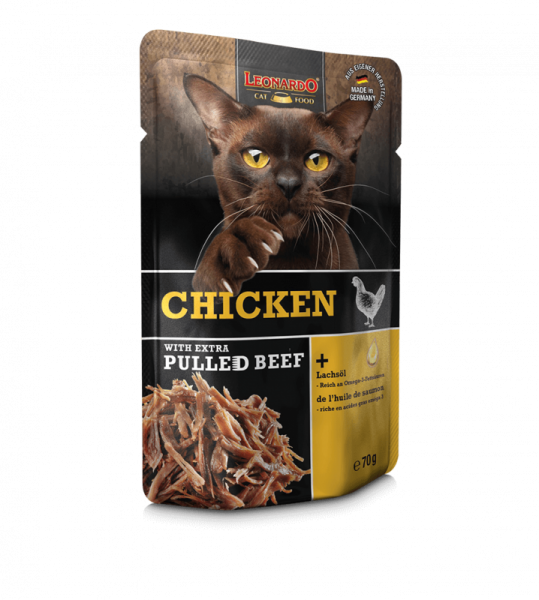 LEONARDO® Chicken with extra PULLED BEEF, 70 g