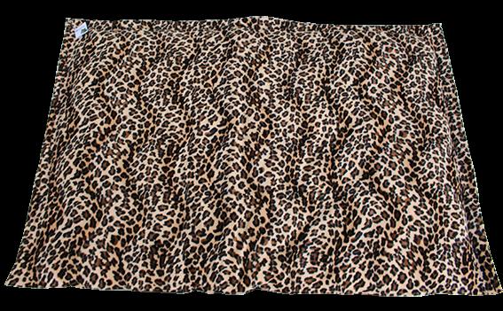together Kuscheldecke, kuscheliger Stoff, Leopardendesign, Rückseite Kustleder
