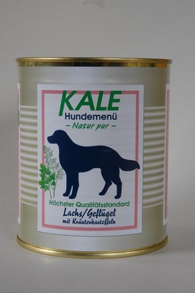 Kale Lachs/Geflügel mit Kräuterkartoffeln