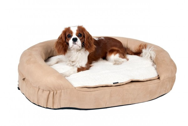 Liegebetten Ortho Bed, oval, beige