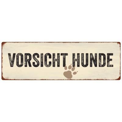 Metallschild/ Warnschild: VORSICHT *HUNDE*