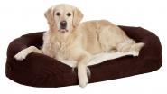 Liegebetten Ortho Bed, oval, braun