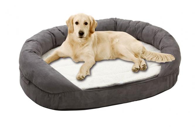 Liegebetten Ortho Bed, oval, grau