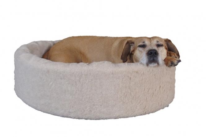 Kuschelkorb aus reiner Schafwolle - das NaturoTherm Hundebett 90 cm x 80 cm